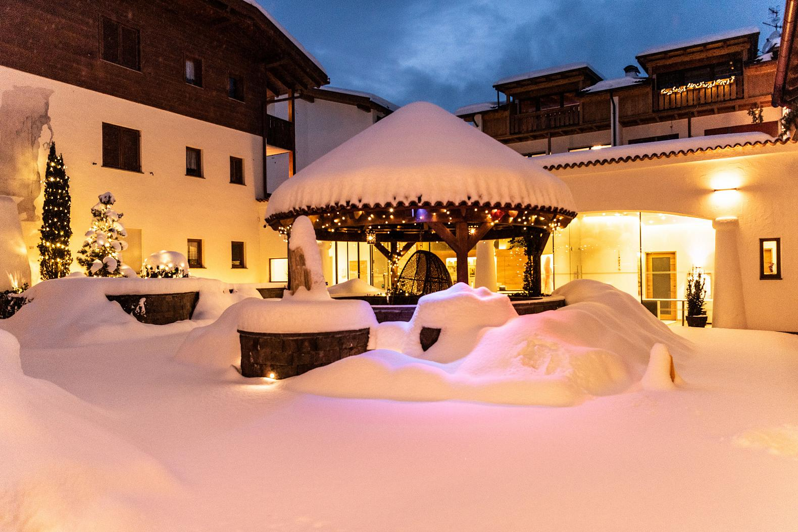Winter photo of the Hotel Kastel Seiser Alm